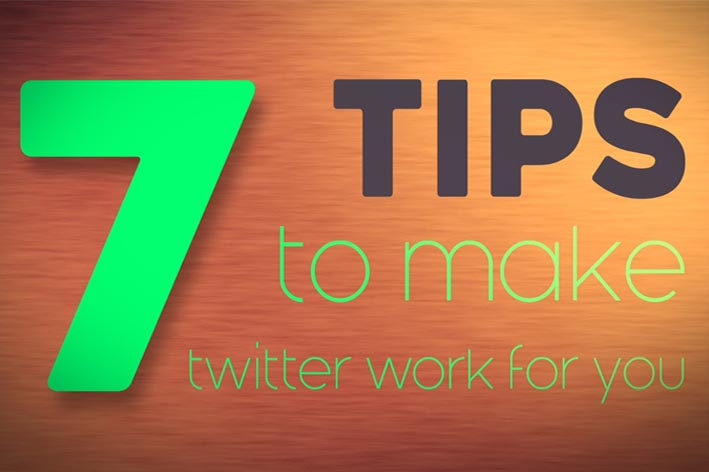 Title frame from animation saying 7 tips to make twitter work for you.